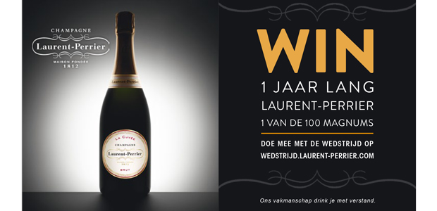 Win 1 jaar lang Laurent Perrier